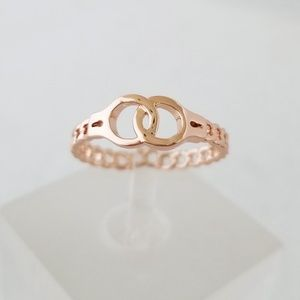Rose Gold Handcuffs Ring
